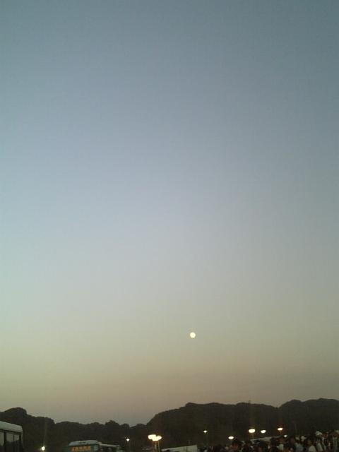 今宵、月は見えてました。